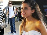 Nathan Sykes set to reunite with girlfriend Ariana Grande as The Wanted jet into Los Angeles