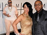 Divorce court: Monique Mosley, shown with Timbaland in February at the Grammy Awards in Los Angeles, has filed for divorce to end their five-year marriage