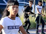 Willow Smith wears odd slogan T-shirt as she heads to the mall with brother Jaden