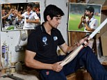 England cricket captain Alistair Cook photographed at the Grey Nicholl sfactory in kent