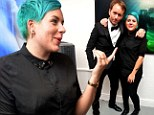 Isabella Cruise stands out with artsy blue-green hair at London exhibition for celebrity photographer Tyler Shields