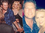 What will Miranda think? Married Blake Shelton pictured cozying up to starlet Lindsey Sporrer at Usher's birthday bash