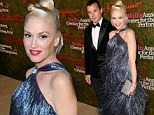 Intricate: Gwen showed off the stunning gown to maximum effect as she strolled into the bash