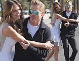 Like old times: Former Dancing With The Stars partners Maria Menounos and Derek Hough teamed up again on Thursday during a visit on the Extra set in Los Angeles
