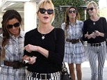 Girls' day out! Eva Longoria and Melanie Griffith stroll arm-in-arm as they enjoy lunch and a shopping spree