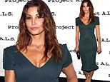 Gina Gershon, 51, defies her age in a low-cut green frock as she attends Project A.L.S. anniversary party