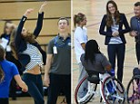 The Duchess of Cambridge at a SportsAid Athlete Workshop