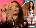 Feet tattoo: Bethenny Frankel shared a photo on Thursday of 'Rick $pringfield' tattooed on the soles of her feet as she referenced the Australian singer in Miley Cyrus style