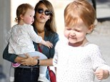 Where are my shades, mom? Jessica Alba's little lady Haven squints during sunny stroll