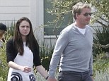 Keeping tabs: Gordon Ramsay with his daughter Megan last year in California