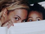 Baby Blue eyes! Beyonce shared this picture of playtime in a hammock