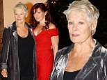 Judi Dench heads to Shakespeare's Globe with daughter and grandson wearing velvet jacket for fundraising gala