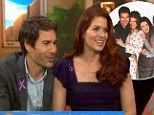 'We go out to dinner together and freak people out,' says Debra Messing about her former Will & Grace costar, Eric McCormack