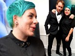 She's got the blues! Tom Cruise's daughter Isabella makes sure to stand out with her bright hair colour at London exhibition for celebrity photographer Tyler Shields
