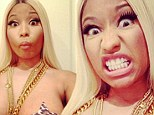 Showing every inch of her wild side! Nicki Minaj leaves nothing to the imagination wearing just leopard print nipple pasties
