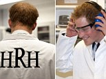 The prince of lab coats! Harry wears HRH emblazoned whites on visit to laboratory