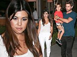 The cute youngster was treated to dinner at Italian restaurant Toscanova near their Calabasas home in California.