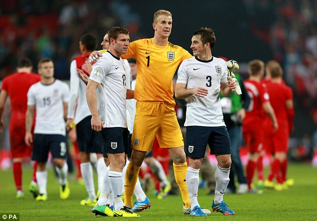 Job done: England qualified for next year's World Cup but that positive has been overshadowed by events after the game