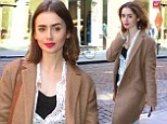 Lily Collins shows she's a frugal fashionista as she wears same stylish coat twice in one week