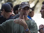 Victim: Michael Bay - pictured on set in Hong Kong on Friday - claims the man who attacked him was an extortionist hellbent on disrupting filming