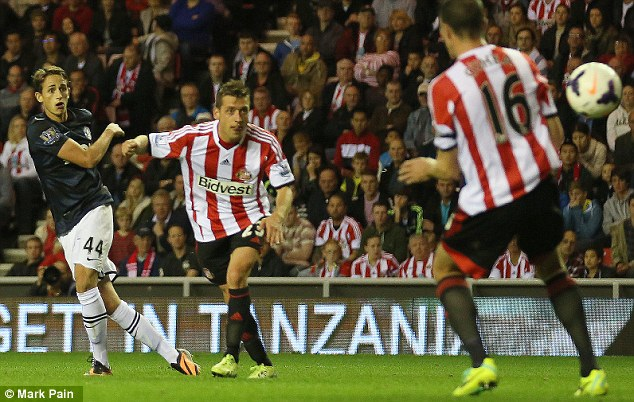 Last time out: Manchester United's Adnan Januzaj scored twice as Sunderland were beaten 2-1 a fortnight ago