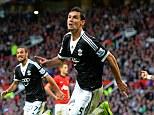 Delight: Dejan Lovren's 89th minute equaliser earned Southampton a valuable point at Old Trafford
