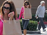 Smooth-a-holics: Stars Brooke Burke and Dick Van Dyke cross paths while buying green smoothies in Malibu