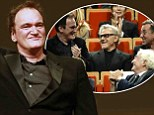 Killer reunion! Quentin Tarantino is flanked by Reservoir Dogs co-stars Harvey Keitel and Tim Roth as he receives Lumiere prize