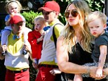 Where's your costume, Hilary? Neil Patrick Harris and partner go all out in matching outfits... as Duff dresses down at early Halloween bash