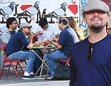 Leonardo DiCaprio meets up with a bunch of friends