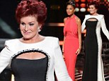 Sharon Osbourne upstages Nicole Scherzinger as she unveils her new slimline figure in clinging monochrome gown on The X Factor