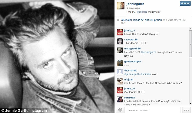 Showing him off: On Thursday the star - who finalised her divorce to actor Peter Facinelli in June - all but declared her love for Micheal posting a image of him on her Instagram