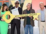 The city is ours! Michael Douglas and Robert De Niro grin with glee after being give key to Las Vegas