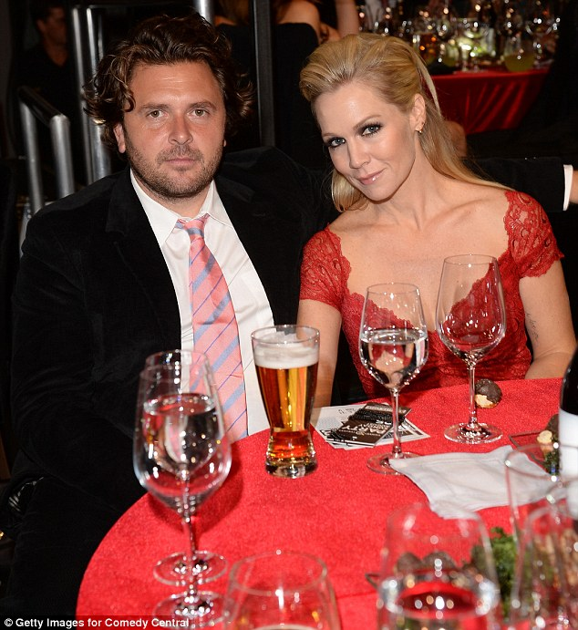 New love: Jennie Garth is dating Michael Shimbo, pictured here at the attend The Comedy Central Roast of James Franco in Los Angeles, California, on August 25