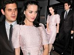 Pretty in pink! Katy Perry dresses up for date night in London after John Mayer jets in from Norway to see her