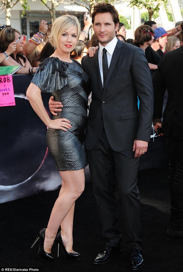 In better times: This is the actress' third relationship since splitting in 2012 with husband of 11 years, Peter, seen here together in 2010