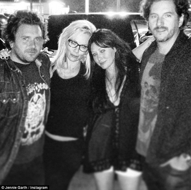 Getting serious: Jennie is so smitten with the tech businessman, she has already introduced him to her firends, taking him on a double date with former co-star Shannen Doherty and her husband Kurt Iswarienko in Malibu last month