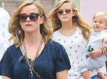 But who's who? Reese Witherspoon and her daughter Ava are practically identical during a cute family outing