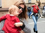 Gisele Bundchen turns the street into a catwalk as she takes daughter Vivian shopping in New York