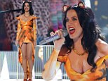 'I feel grrr-eat!' Katy Perry wows in corseted tigress outfit for stunning X Factor performance