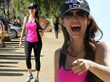 Keep on Runyon: Kelly Brook powers her LA fitness regime forward with a visit to the top of a canyon in Los Angeles