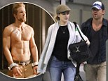 Quick change: Ryan Reynolds and wife Blake Lively are shown arriving on Oct. 13 in New Orleans, Louisiana after Ryan reportedly took his shirt off mid-flight after a passenger became ill