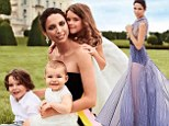 Showing her soft side: Erica Packer poses with her three children, Emanuelle, Jackson, and Indigo