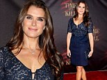 Brooke Shields is a natural beauty as she attends the opening night of the Broadway play, A Time to Kill, at the Golden Theater Sunday