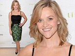 Reese Witherspoon is pretty in a printed dress that showcases her petite figure at store launch