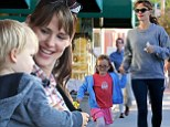 Jennifer Garner and her son Samuel Garner Affleck