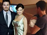 Arrow star Stephen Amell forces newborn baby girl Mavi to watch his show in humorous picture announcing her birth