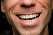 Close Up of a Man Smiling with Stubble