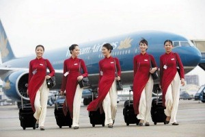 Vietnam Airlines flight attendants