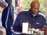 Breakfast of champions! Lamar Odom eats a sensible meal after reports claimed he was losing wait due to 'drug abuse'